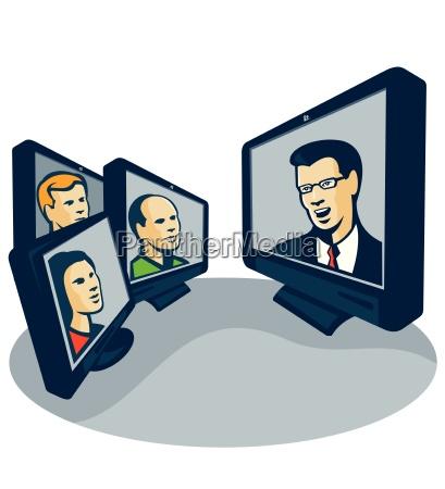 interazione interferenza videoconferenza conferenza incontro