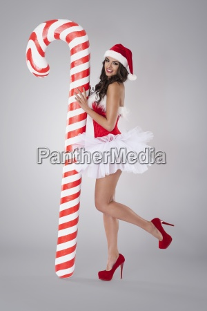 sweet and sexy santa claus with