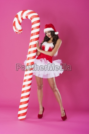 sweet lollipop in christmas time