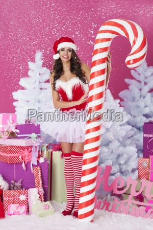 sweet christmas with sexy santa claus