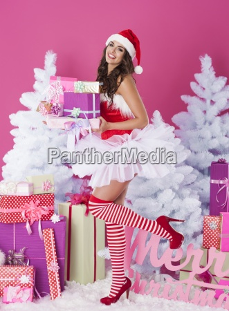 sexy woman is ready for christmas