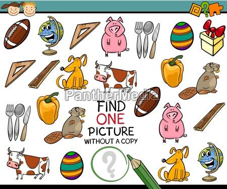 educazione singolo illustrazione enigma uno trovare