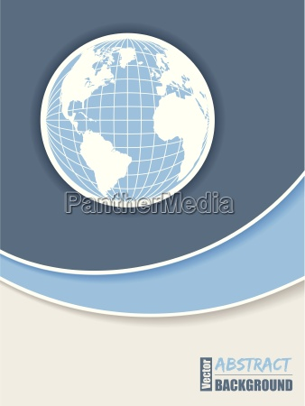 disegno corporativo dellopuscolo in azzurro