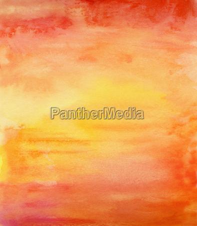 watercolor yellow orange red
