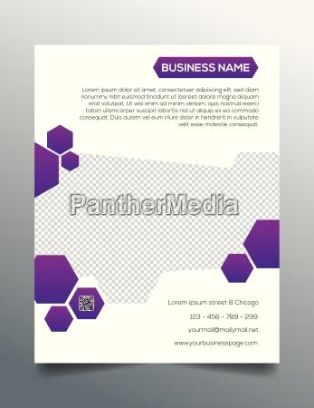 business flyer template creative purple