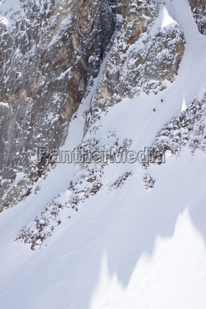 two backcountry skiers in the sawtooth