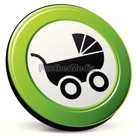 carrozzina icona 3d