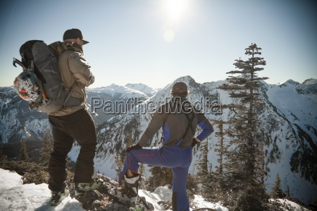 backcountry ski trip