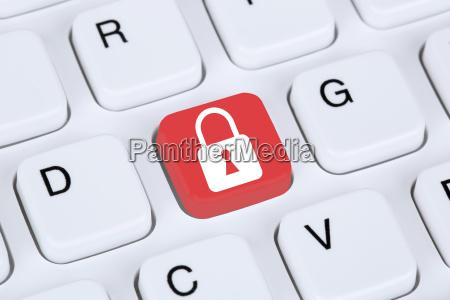 icone sicurezza computer nellicona di internet