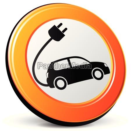 icona di auto elettrica