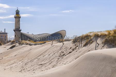 faro warnemuende duna di sabbia
