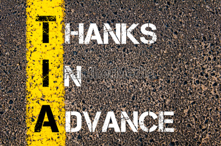 business acronym tia as thanks in