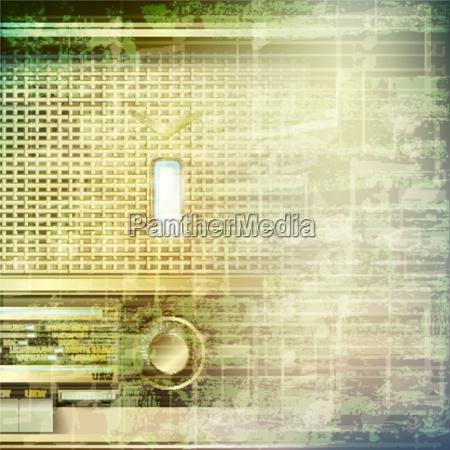 musica grunge astratto con retro radio
