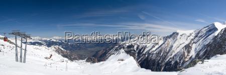 alpi austria primavera sguardo vista ghiacciaio