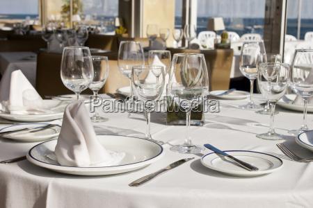 ristorante bicchiere vacanza vacanze piatto decorazione