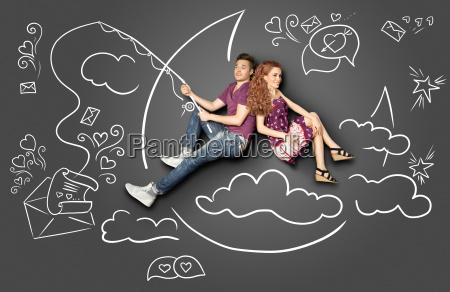 happy valentine amore storia concetto di