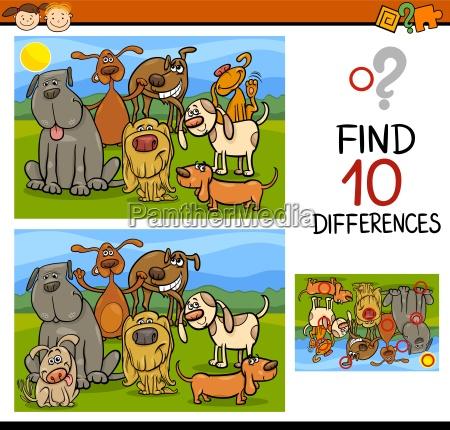 trovare le differenze cartoon gioco
