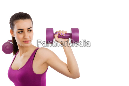 beautiful lady fitness with copy space