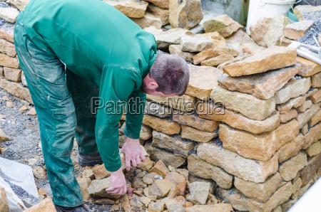 muro a secco muro di pietra