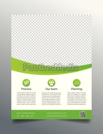 business flyer template simple sleek