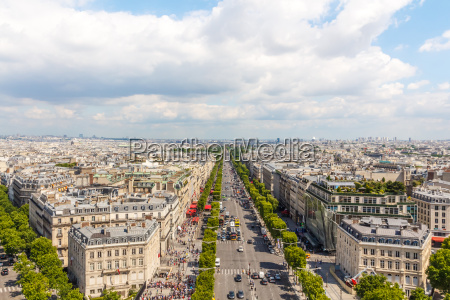 champs elysees vista viale da arc
