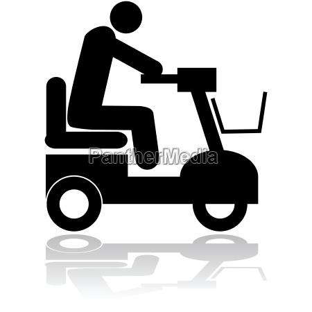 sedia a rotelle grafico traffico nero