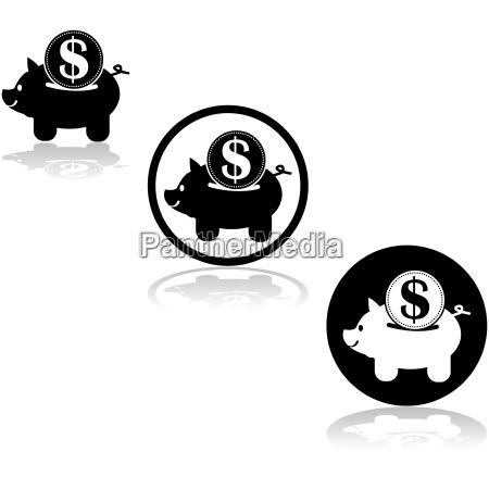 banca dollaro dollari progettazione concetto modello