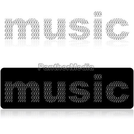 musica suono composizione grafico nero riflesso