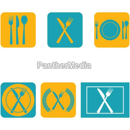 ristorante blu cibo progettazione concetto modello