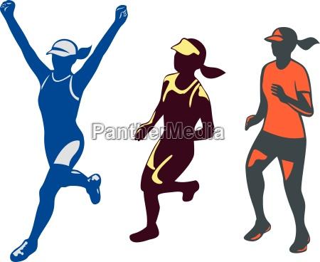 collezione set femminile maratona triathlon triatleta