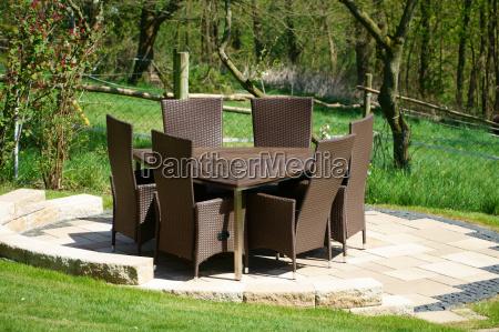 mobilia del giardino del rattan