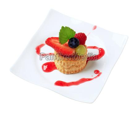 cibo dolce rilasciato conchiglia biscotto frutta