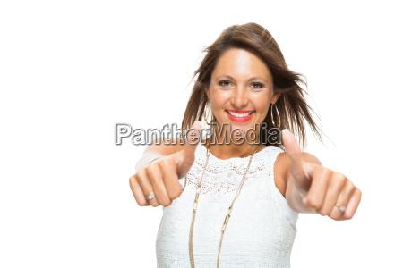 la giovane donna bruna piuttosto che