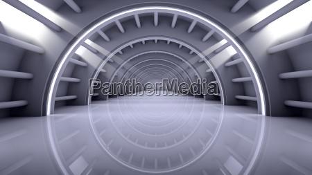 moderno stanza interno futuristico astratto svuotare