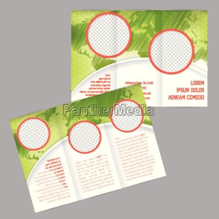 design brochure ripiegabile con mappa del
