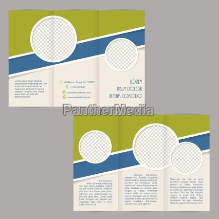 ripiegabile progettazione modello di brochure con