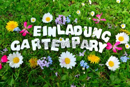 testo della festa in giardino