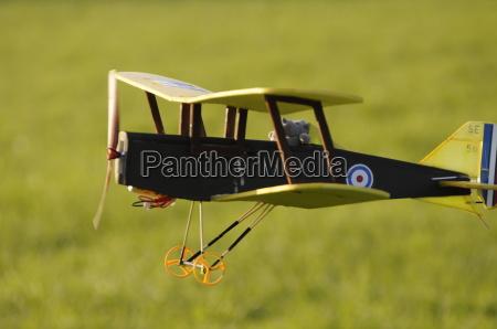 biplane flying low