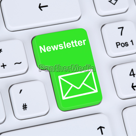 internet concept newsletter invia per la