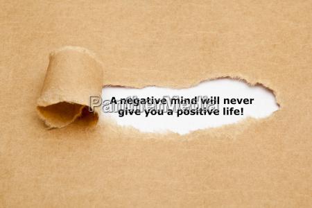 una mente negativa non ti dara