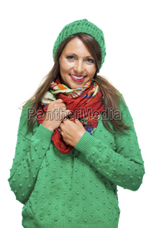 attractive young woman with long dark