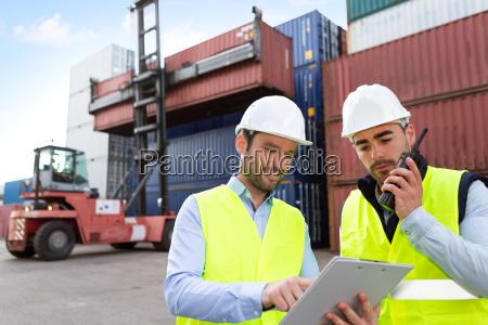 dati dei contenitori di lavoratore e