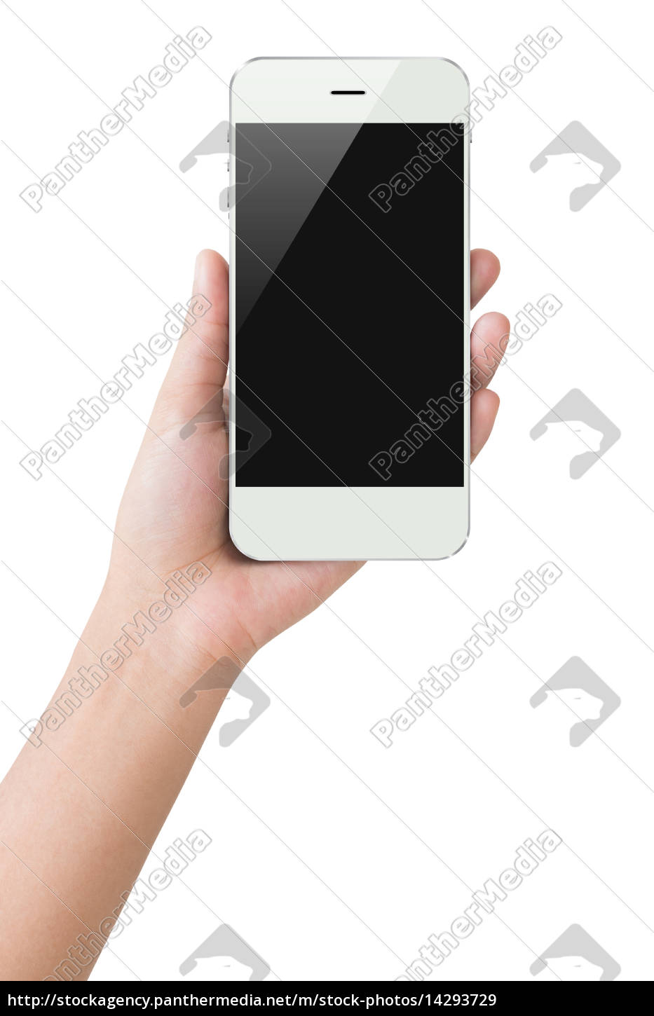 hand, hold, phone, display, clipping, path - 14293729