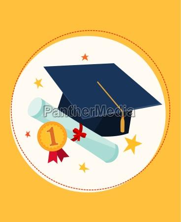 tappo di laurea e premio