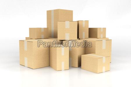 pile di scatole