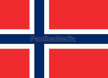 bandiera della norvegia orizzontale