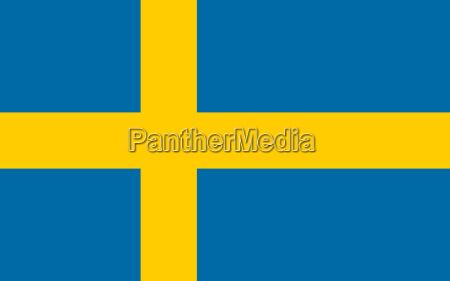 bandiera di svezia orizzontale