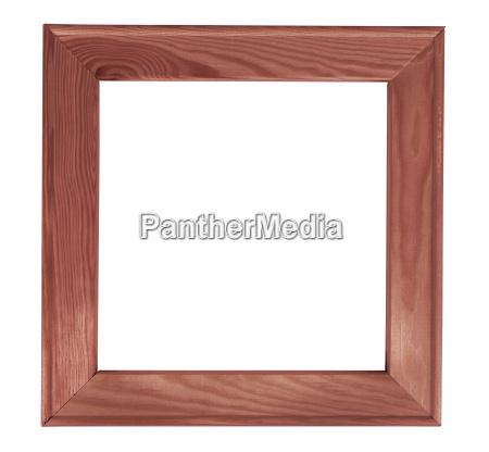 quadro quadrato in legno scuro