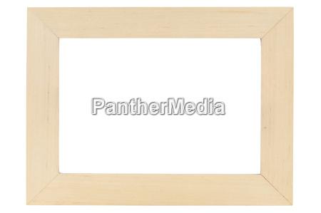 cornice di legno su backround bianco