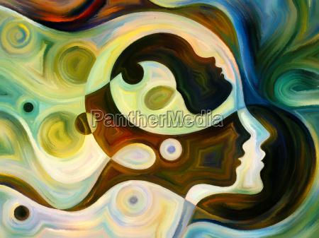 donna profilo arte composizione progettazione concetto